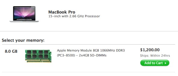 MacBook Pro 8Gb RAM