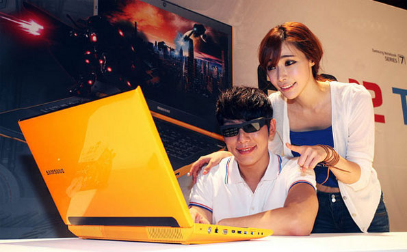 Samsung Series 7 Yellow 3D